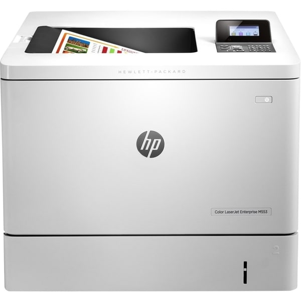 HP LaserJet M553dn Laser Printer - Color - 1200 x 1200 dpi Print - Pl