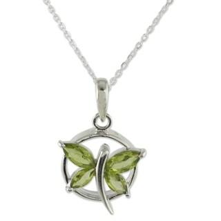 Handmade Sterling Silver 'Renewal' Peridot Necklace (India)