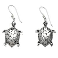 Handmade Sterling Silver 'Turtle of the Sea' Earrings (Indonesia)