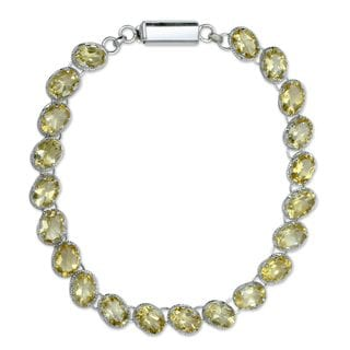 Handcrafted Sterling Silver 'India Delight' Citrine Bracelet (India)
