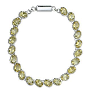 Handmade Sterling Silver 'India Delight' Citrine Bracelet (India)