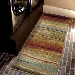 Carolina Weavers Comfy and Cozy Grand Comfort Collection Field of Vision Multi Shag Runner (2'3 x 8')