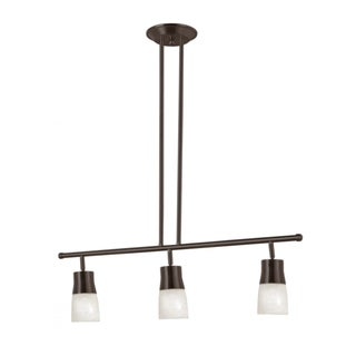 Cambridge 3-Light Rubbed Oil Bronze 6 in. Track Light with Opal Glass