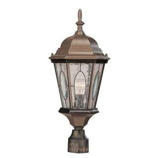 Cambridge Bronze Finish Outdoor Post Head With A Water Shade