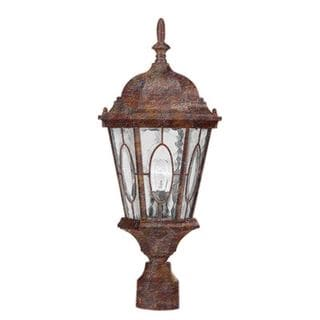 Cambridge Rust Finish Outdoor Post Head With A Water Shade