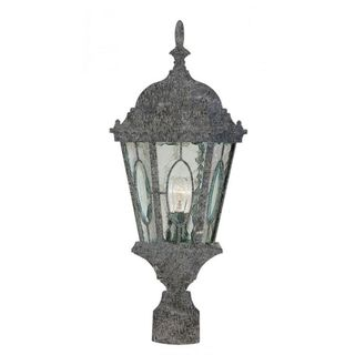 Cambridge Swedish Iron Finish Outdoor Post Head With A Water Shade