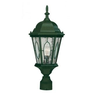 Cambridge Verde Green Finish Outdoor Post Head With A Water Shade