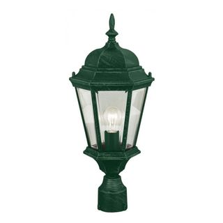 Cambridge Verde Green Finish Outdoor Post Head With A Beveled Shade