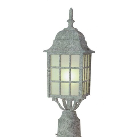 Cambridge Swedish Iron Finish Outdoor Post Head With A Frosted Shade