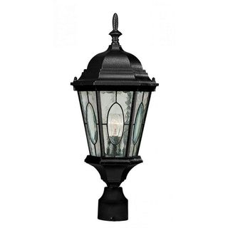 Cambridge Black Finish Outdoor Post Head With A Water Shade