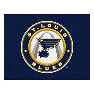Fanmats Machine-Made St Louis Blues Blue Nylon Allstar Rug (2'8 x 3'8)