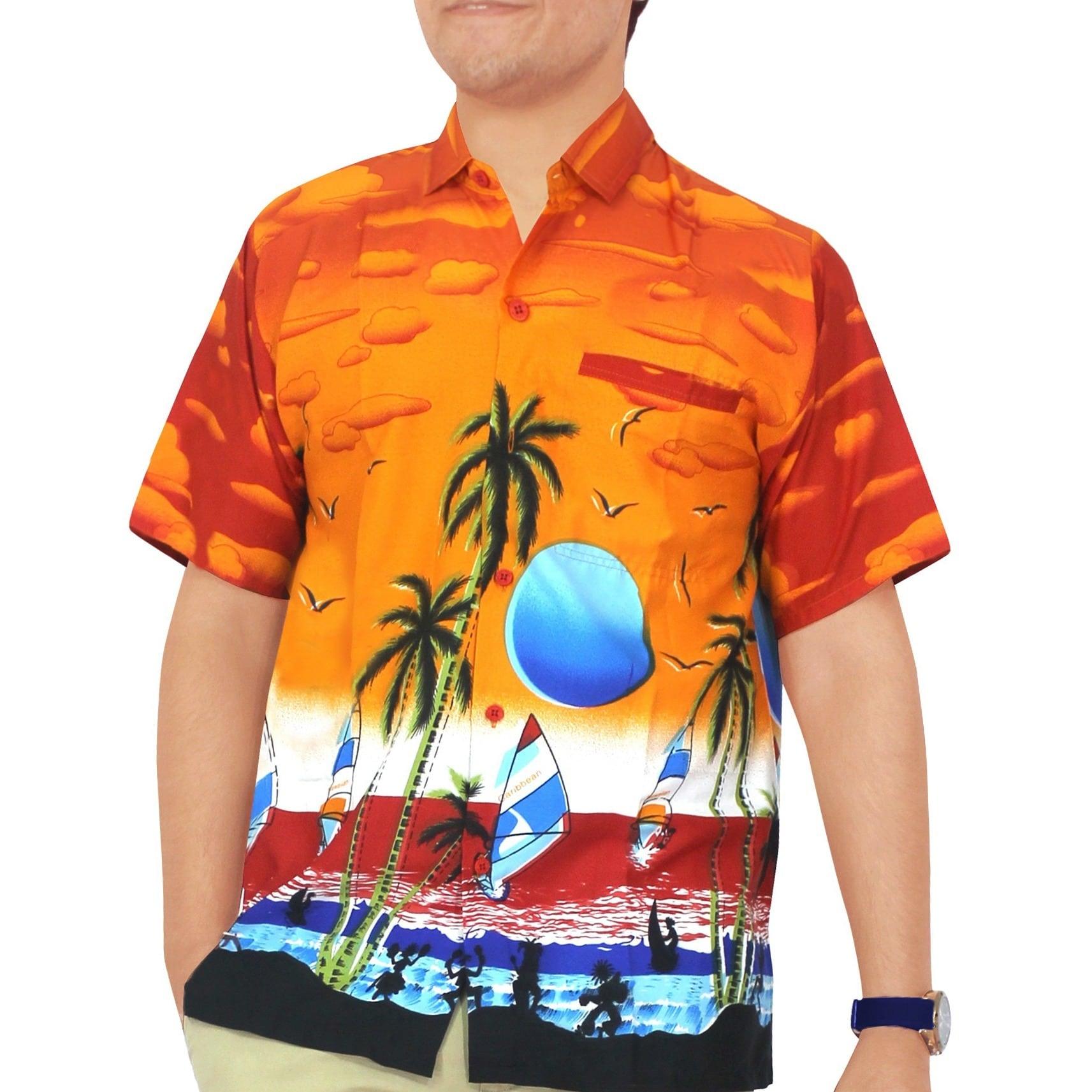 La Leela Orange Likre Sunset Aloha Surf Beach Men's Hawai...