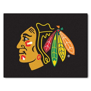 Fanmats Machine-Made Chicago Blackhawks Red Nylon Allstar Rug (2'8 x 3'8)