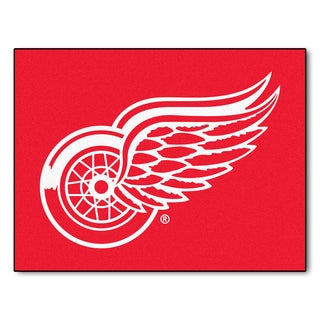 Fanmats Machine-Made Detroit Red Wings Red Nylon Allstar Rug (2'8 x 3'8)