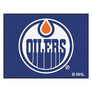 Fanmats Machine-Made Edmonton Oilers Blue Nylon Allstar Rug (2'8 x 3'8)