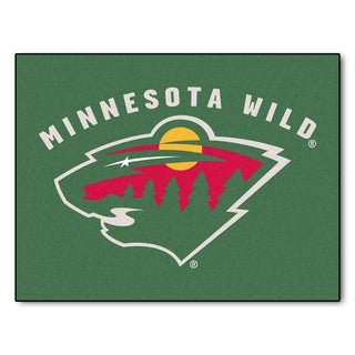 Fanmats Machine-Made Minnesota Wild Green Nylon Allstar Rug (2'8 x 3'8)