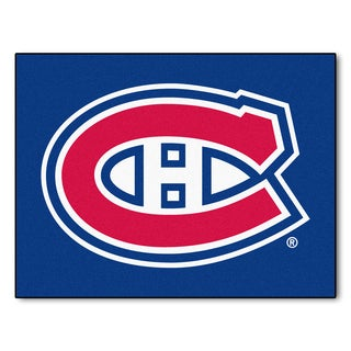 Fanmats Machine-Made Montreal Canadiens Blue Nylon Allstar Rug (2'8 x 3'8)