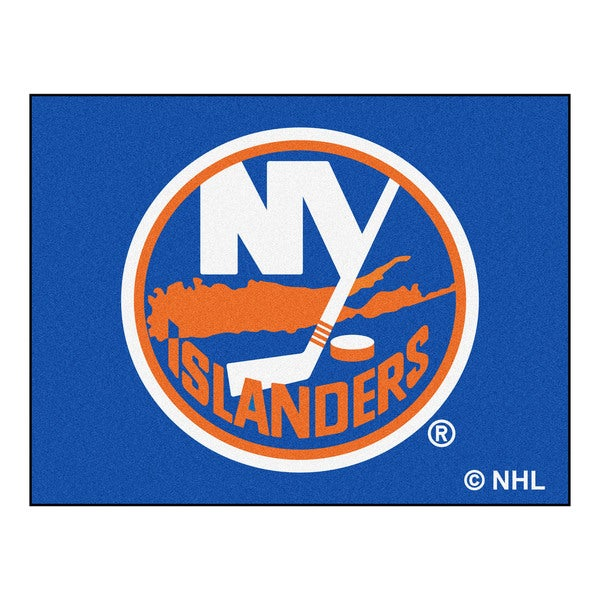 Fanmats Machine-Made New York Islanders Blue Nylon Allstar Rug (2'8 x 3'8)