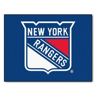 Fanmats Machine-Made New York Rangers Blue Nylon Allstar Rug (2'8 x 3'8)