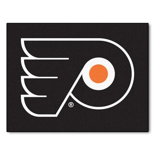Fanmats Machine-Made Philadelphia Flyers Black Nylon Allstar Rug (2'8 x 3'8)