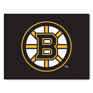 Fanmats Machine-Made Boston Bruins Black Nylon Allstar Rug (2'8 x 3'8)