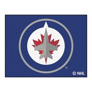 Fanmats Machine-Made Winnipeg Jets Blue Nylon Allstar Rug (2'8 x 3'8)