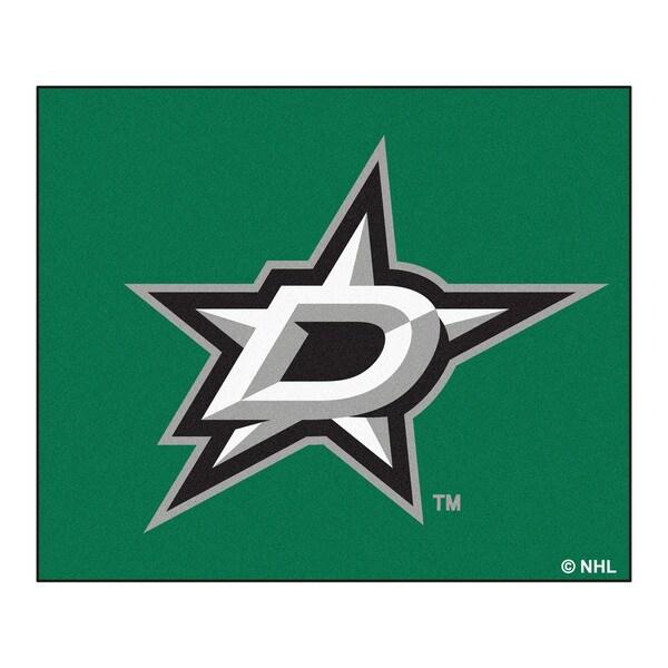 Fanmats Machine-Made Dallas Stars Green Nylon Allstar Rug (2'8 x 3'8)