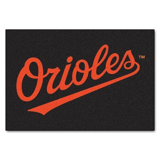 Fanmats Machine-Made Baltimore Orioles Black Nylon Allstar Rug (2'8 x 3'8)