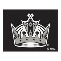 Fanmats Machine-Made Los Angeles Kings Black Nylon Allstar Rug (2'8 x 3'8)