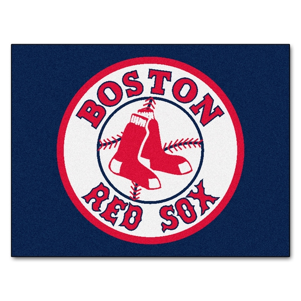 Fanmats Machine-Made Boston Red Sox Blue Nylon Allstar Rug (2'8 x 3'8)