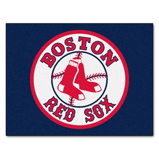 Fanmats Machine Made Boston Red Sox Blue Nylon Allstar Rug (2u00278 X
