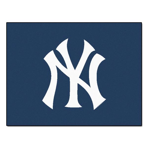 Fanmats Machine-Made New York Yankees Blue Nylon Allstar Rug (2'8 x 3'8)