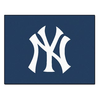 Fanmats Machine-Made New York Yankees Blue Nylon Allstar Rug (2'8 x 3'8)
