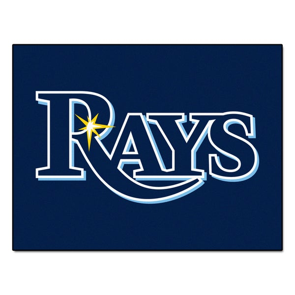 Fanmats Machine-Made Tampa Bay Rays Blue Nylon Allstar Rug (2'8 x 3'8)