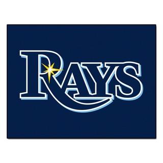 Fanmats Machine-Made Tampa Bay Rays Blue Nylon Allstar Rug (2'8 x 3'8)