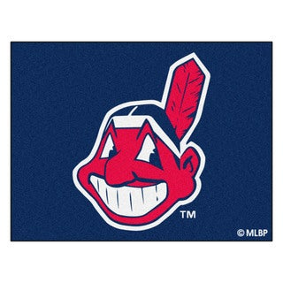 Fanmats Machine-Made Cleveland Indians Blue Nylon Allstar Rug (2'8 x 3'8)