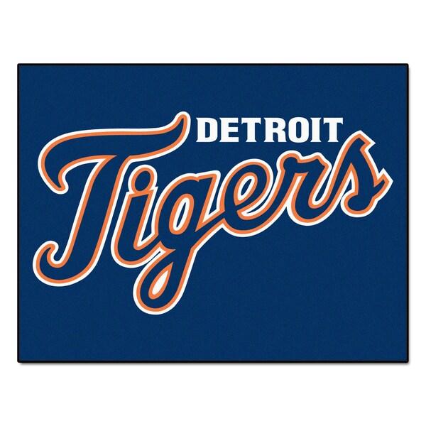Fanmats Machine-Made Detroit Tigers Blue Nylon Allstar Rug (2'8 x 3'8)
