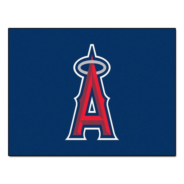 Fanmats Machine-Made Los Angeles Angels Red Nylon Allstar Rug (2'8 x 3'8)
