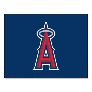 Fanmats Machine-Made Los Angeles Angels Red Nylon Allstar Rug (2'8 x 3'8)