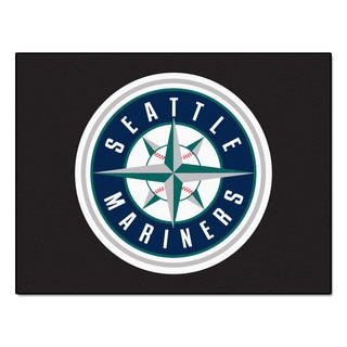 Fanmats Machine-Made Seattle Mariners Blue Nylon Allstar Rug (2'8 x 3'8)