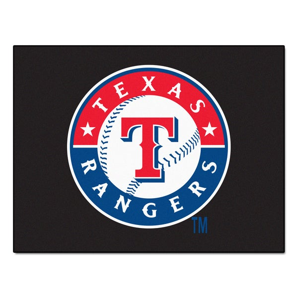 Fanmats Machine-Made Texas Rangers Blue Nylon Allstar Rug (2'8 x 3'8)