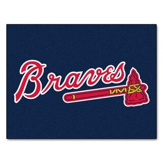 Fanmats Machine-Made Atlanta Braves Blue Nylon Allstar Rug (2'8 x 3'8)