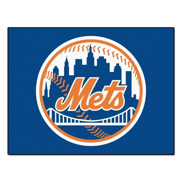 Fanmats Machine-Made New York Mets Blue Nylon Allstar Rug (2'8 x 3'8)