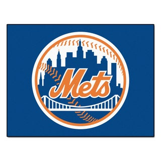 Fanmats Machine-Made New York Mets Blue Nylon Allstar Rug (2'8 x 3'8)