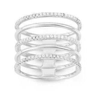 Cubic Zirconia Women's 5 Row Alternating Ring