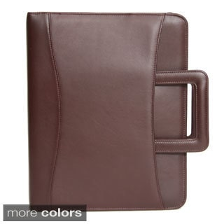 Royce Leather  'Jefferson' Zip Around Binder Genuine Leather Portfolio