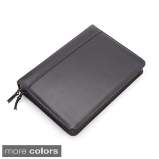 Royce Leather Executive Convertible Zip Around Binder Genuine Leather Portfolio