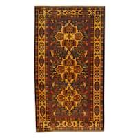 Handmade Herat Oriental Afghan 1960s Semi-antique Tribal Balouchi Wool Rug - 3'6 x 6'3 (Afghanistan)