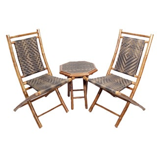 Havenside Home Bayview 3-piece Brown Frame Bamboo Bistro Set