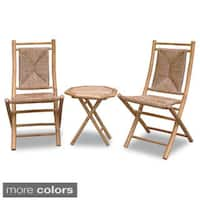 The Curated Nomad Telegraph Hill 3-piece Woven and Bamboo Bistro Set